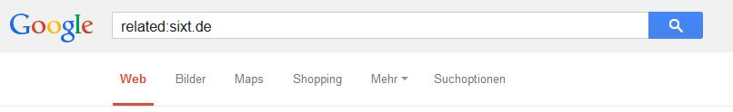related: als Google Suchoperator